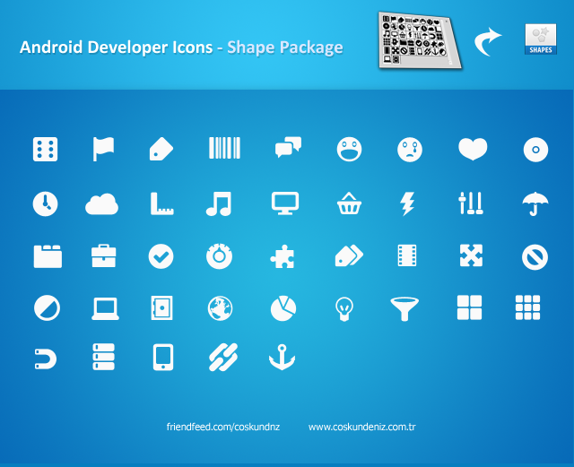Android Icons Shape Package by interfacedesigner