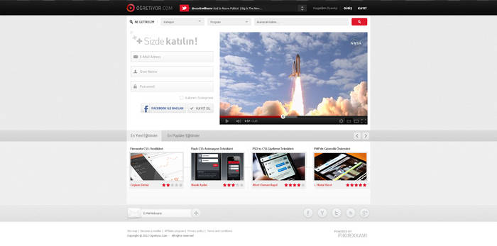 Ogretiyor.Com Interface