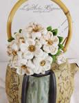 Gold Flecked Pearl Bouquet Kanzashi