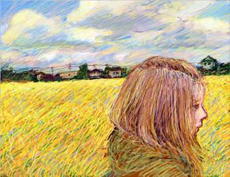 Ear-of-rice field by hikarinotubu