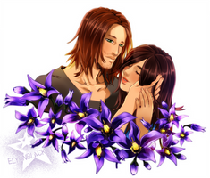 Flower Commission - Aisling and Brynjolf by ElyonBlackStar