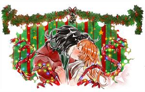 Mistletoe kiss by ElyonBlackStar