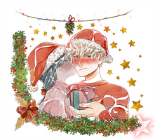 CHRISTMAS COMM - Rion and Bakugo by ElyonBlackStar