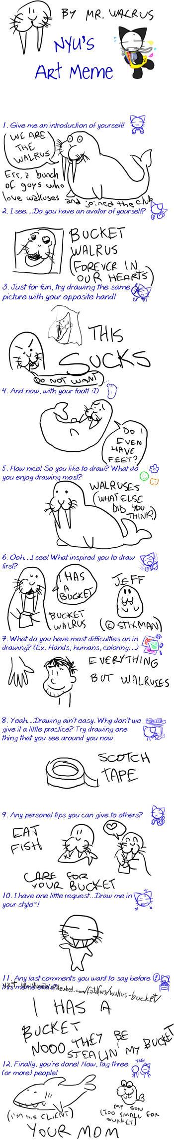 Art Meme by THE WALRUS by walrus-club