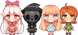 pixel doll batch by blossomblairr