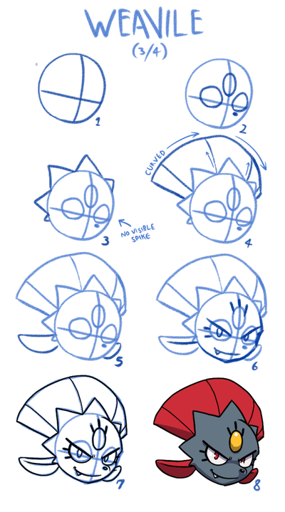 Weavile How-to-Draw by teckworks