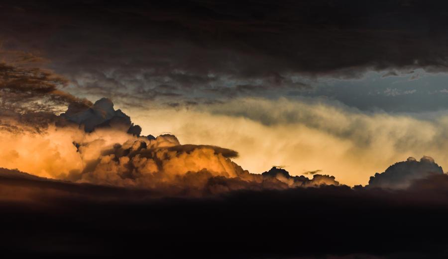 Sunset Through A Cotton Field by AshWind150