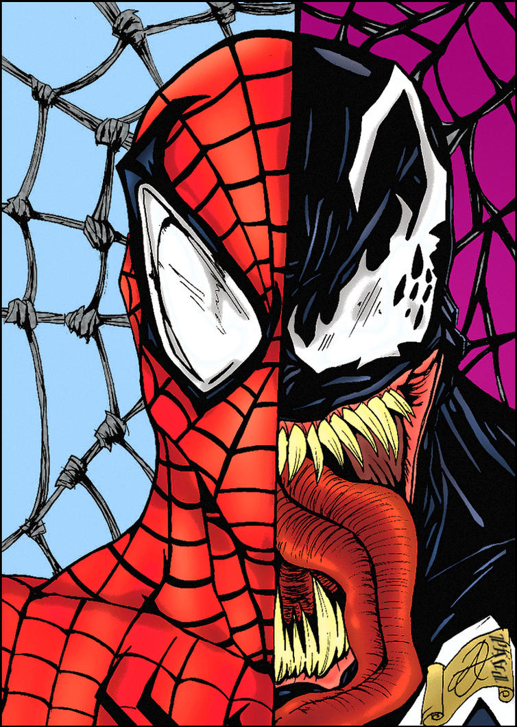 Venom spiderman art - photo#12