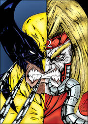 Wolverine / Omega Red - Darkartistdomain and me by pascal-verhoef