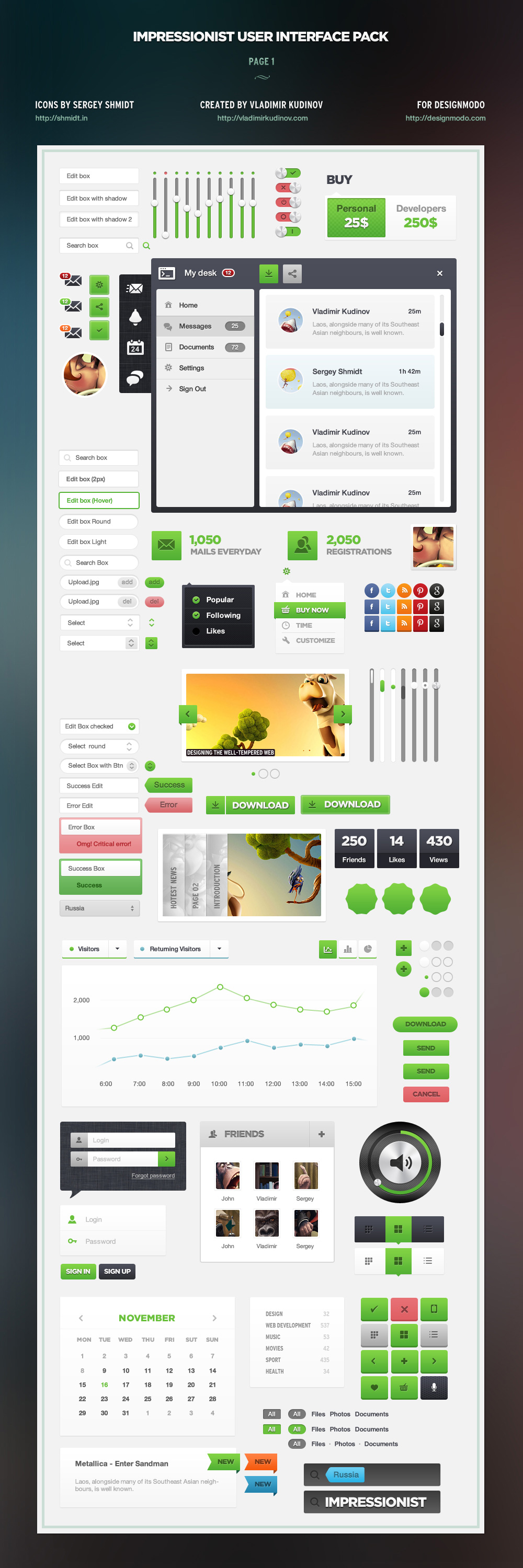 Impressionist UI - User Interface Pack by ProRock