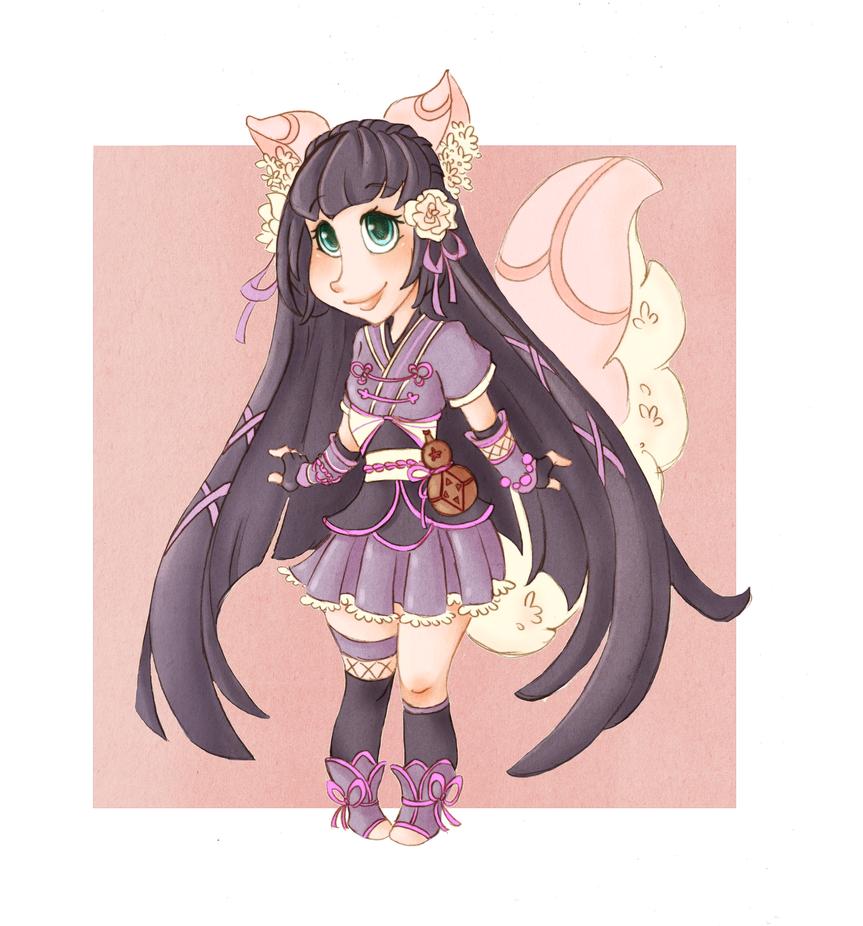 :: Chibi commission: Tsukiko :: by VioletKy