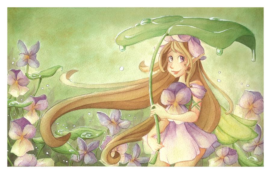 Spring Rains by VioletKy