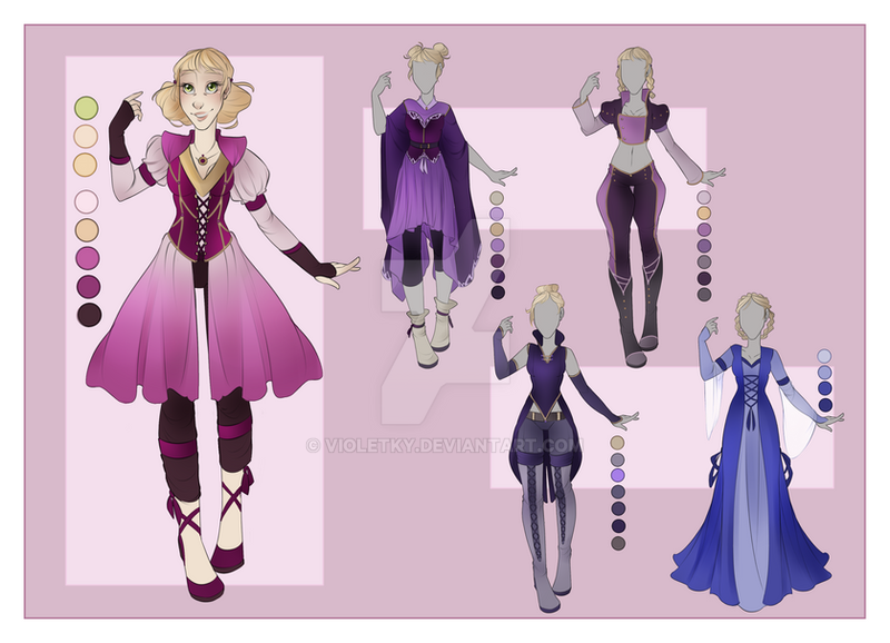 :: JEN Commission 01: Outfit Wardrobe :: by VioletKy