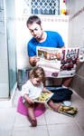 Father and daughter quality time by Tomergr