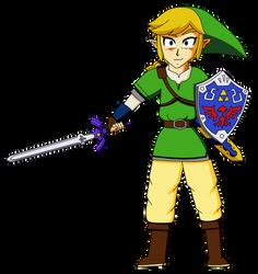 Link (Skyward Sword) DBZ style by RioluLucarioFan9000