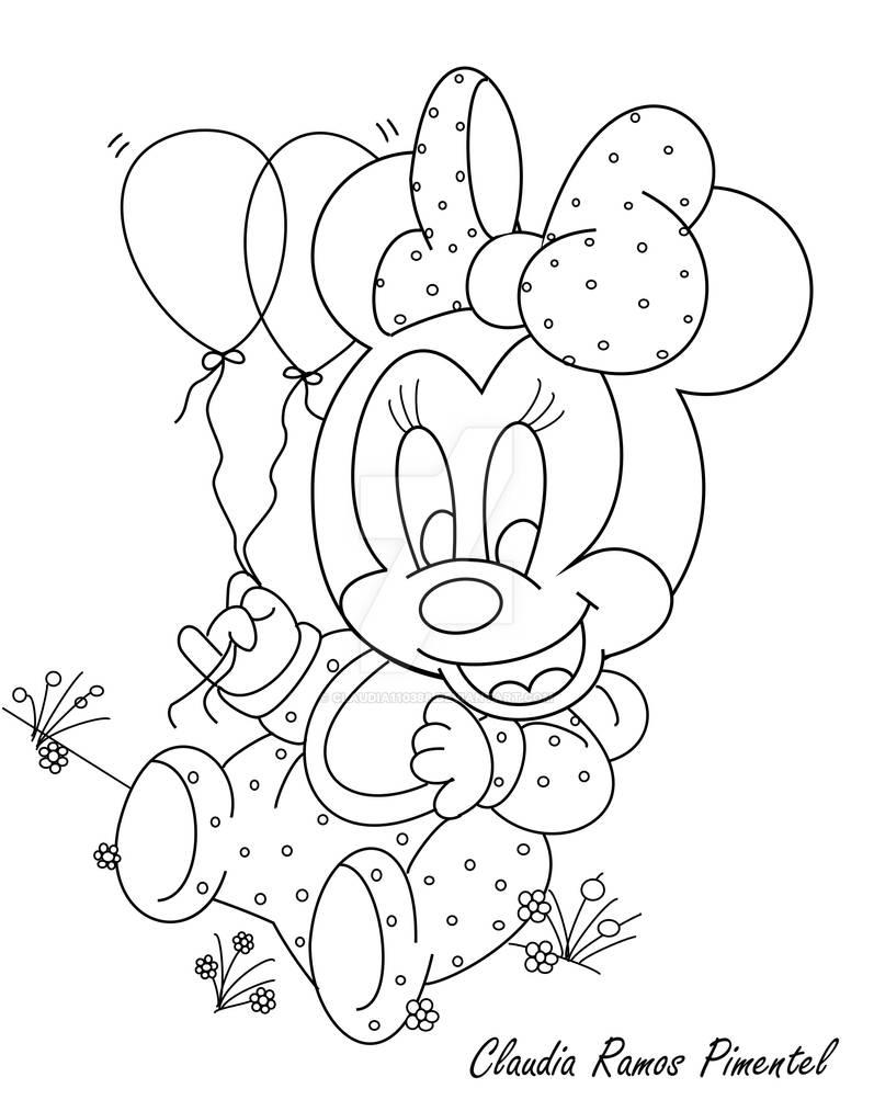 Desenho Para Colorir Minnie Baby By Claudia110388 On Deviantart