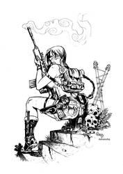 Lara Sketch by Adrianohq inked by gz12wk