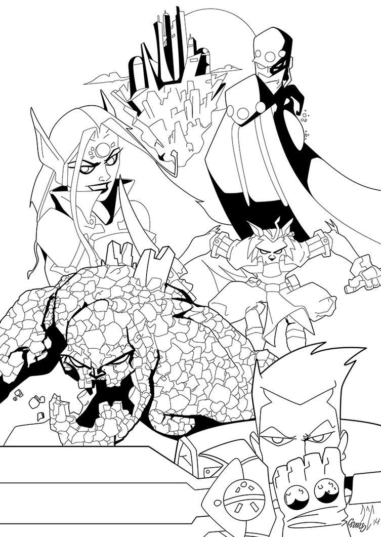 Realm of Lore Cover 1 issue 1- inks by gz12wk