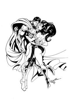 Superman And Wonder Woman By Gordotote Inked Small