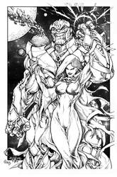Thanos And Mistress Death By Pant Inked Small