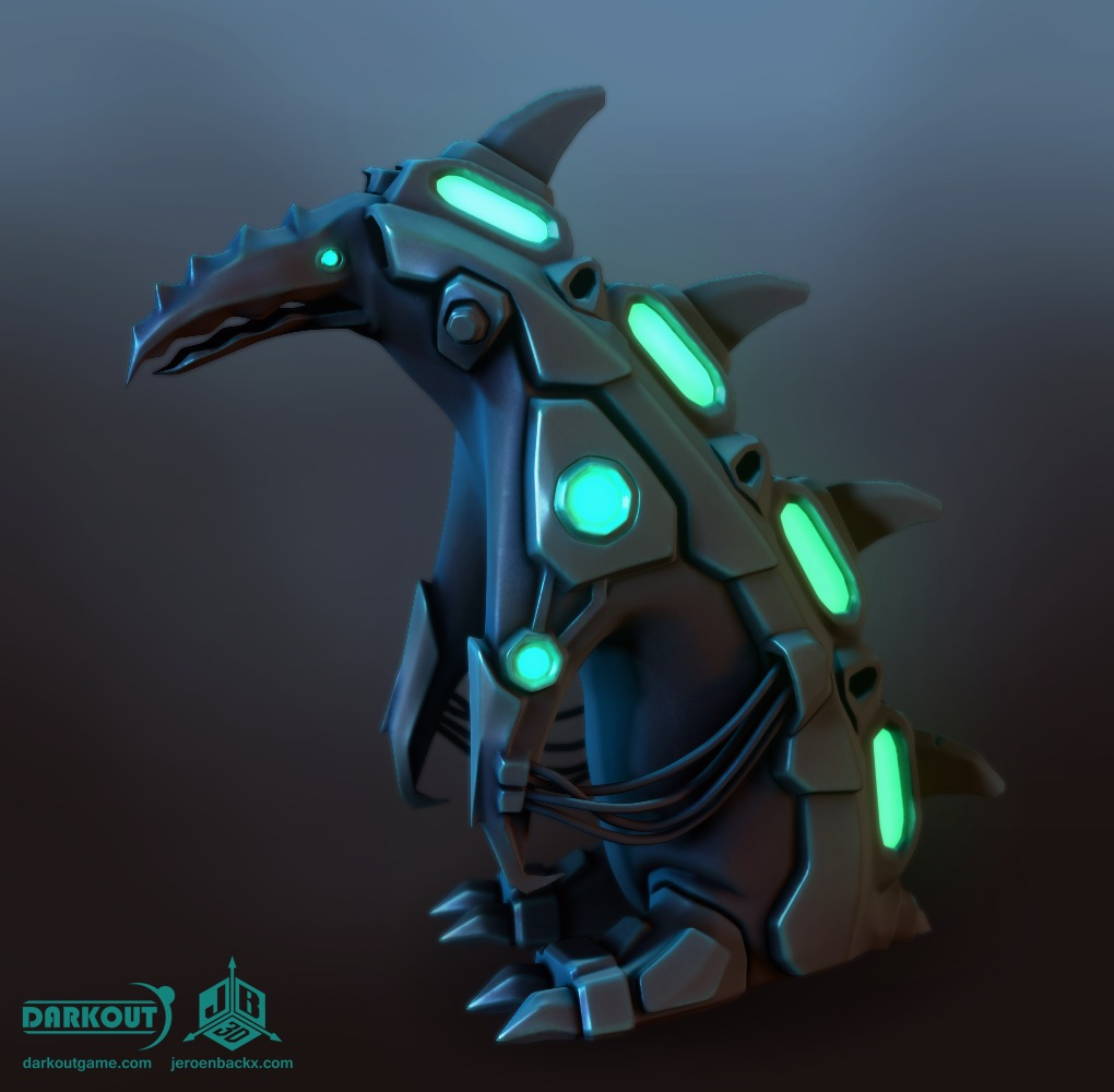 Darkout game art: Penguin robot by JeroenBackx