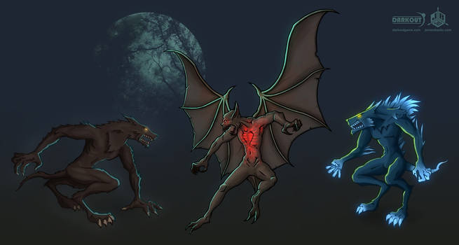 Darkout game concept art: Monsters 1