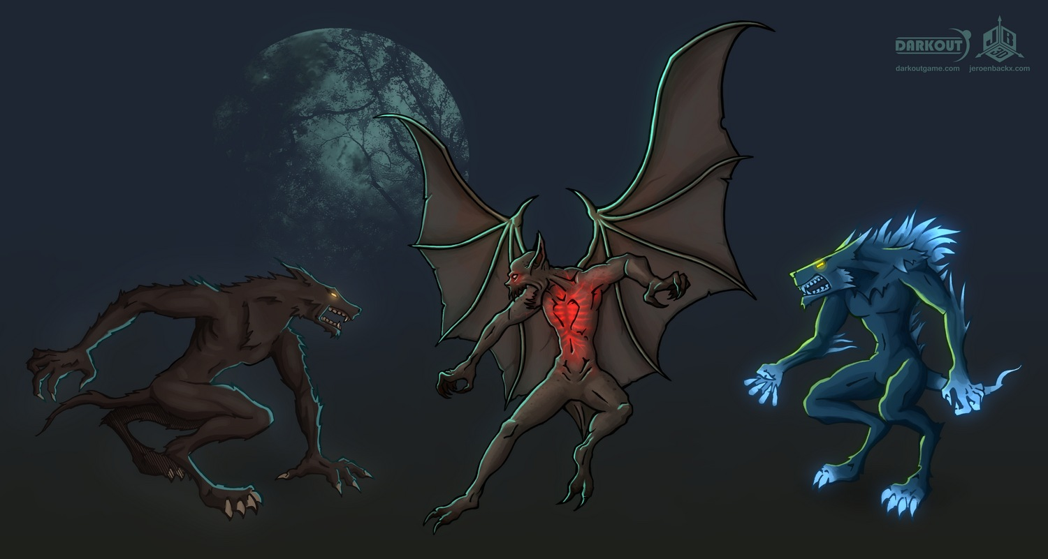 Darkout game concept art: Monsters 1 by JeroenBackx