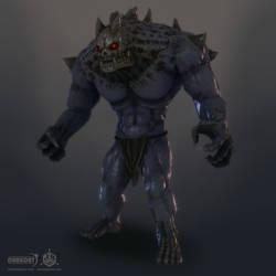 Darkout game art: Brute boss