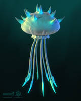 Darkout game art: Jellyfish by JeroenBackx
