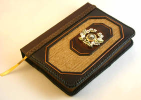 Gold Lion Leather Journal by McGovernArts