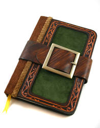 Velvet Belted Leather Journal by McGovernArts