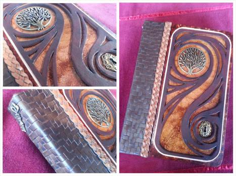 Golden Shimmer Swirl Journal
