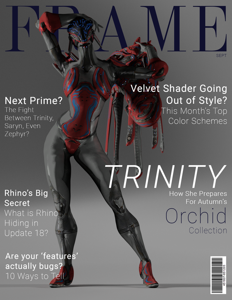 Tried My Hand At Making A Warframe Magazine Cover Fan Art