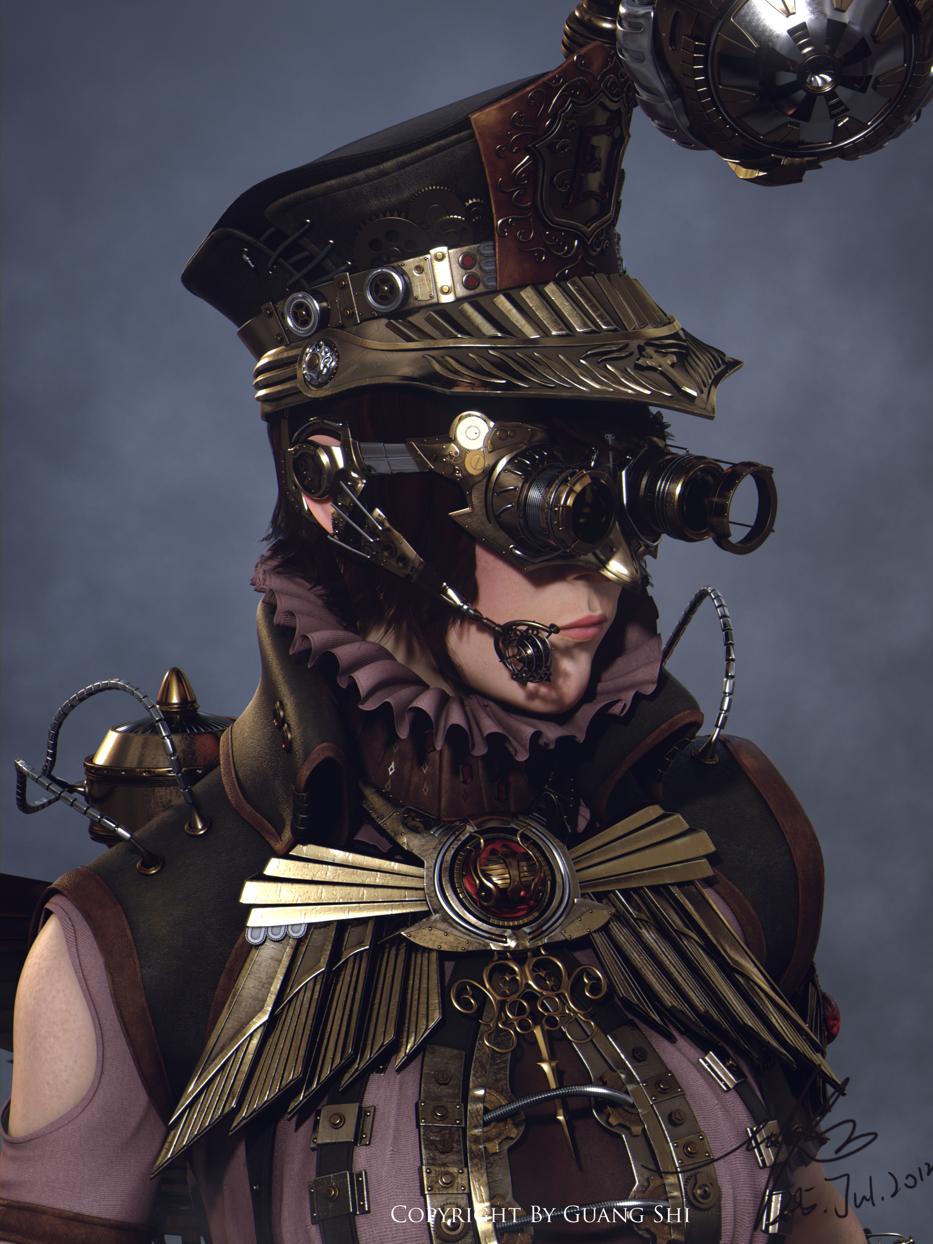 Steampunk Law enforcer by Guang Shi by Gwangshi172