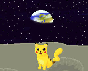 Space Cat Pikachu by healz4Diamond
