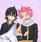 Fairy Tail: Dragneel Brothers by FairyKDrawningKarasu