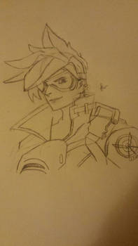 First post! it's tracer from OVERWATCH!