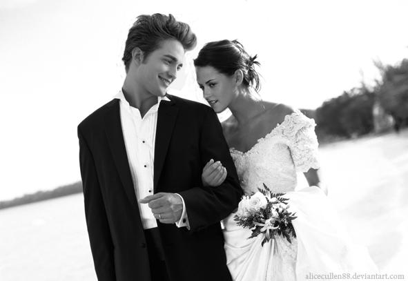 Edward and Bella wedding manip by AliceCullen88