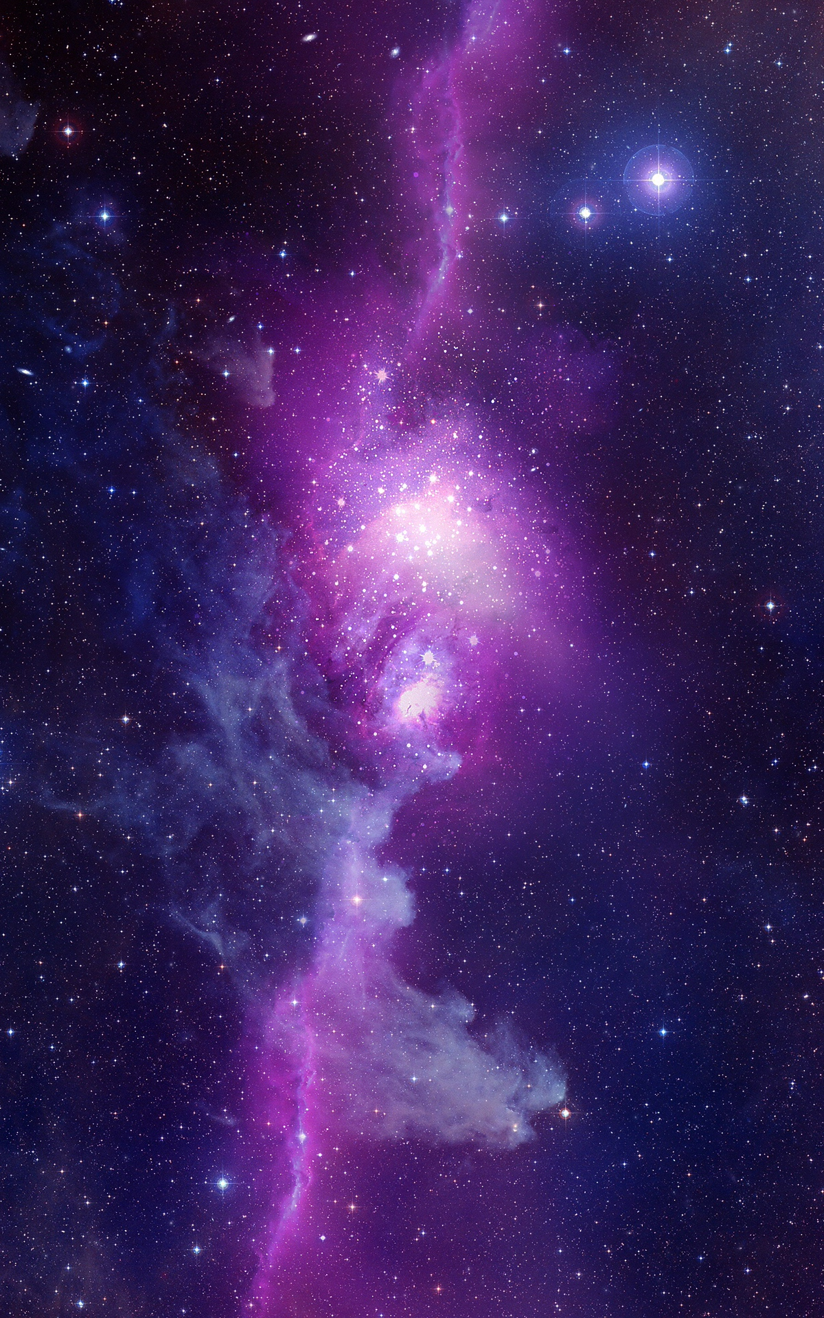 purple orange space galaxy painting - photo #15