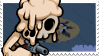 Melting Nuclear Throne Stamp (A) by lonely-eel