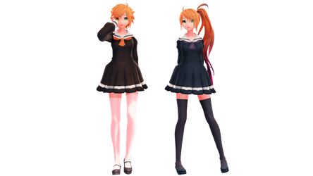MMD School Uniform Anon and Kanon by anitaabc