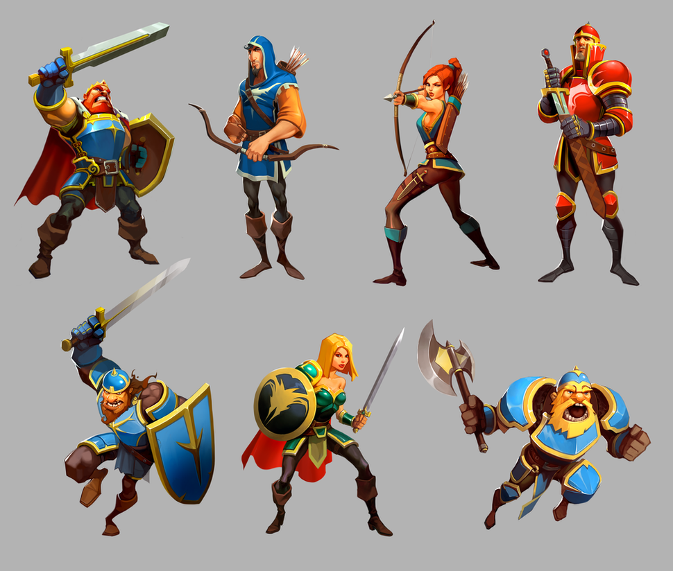 Cartoon Characters by Goshun