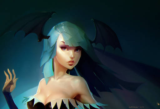 Morrigan portrait