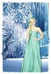 Elle Fanning as Elsa from Frozen manipulation