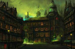 Victorian City Illustration