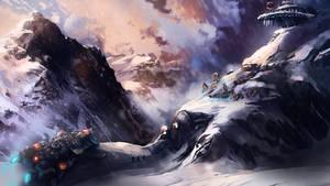 Mountians Sci Fi by Crazymann11