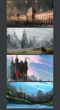 landscape sketch pack