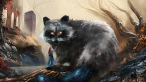 Mystical Raccoon by Crazymann11