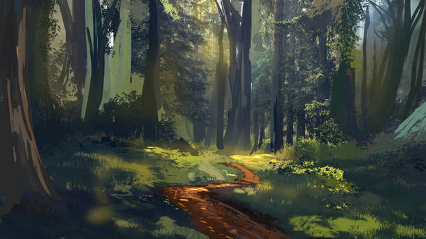forest path sketch
