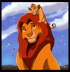 Simba and Kopa by TLK-Ileana